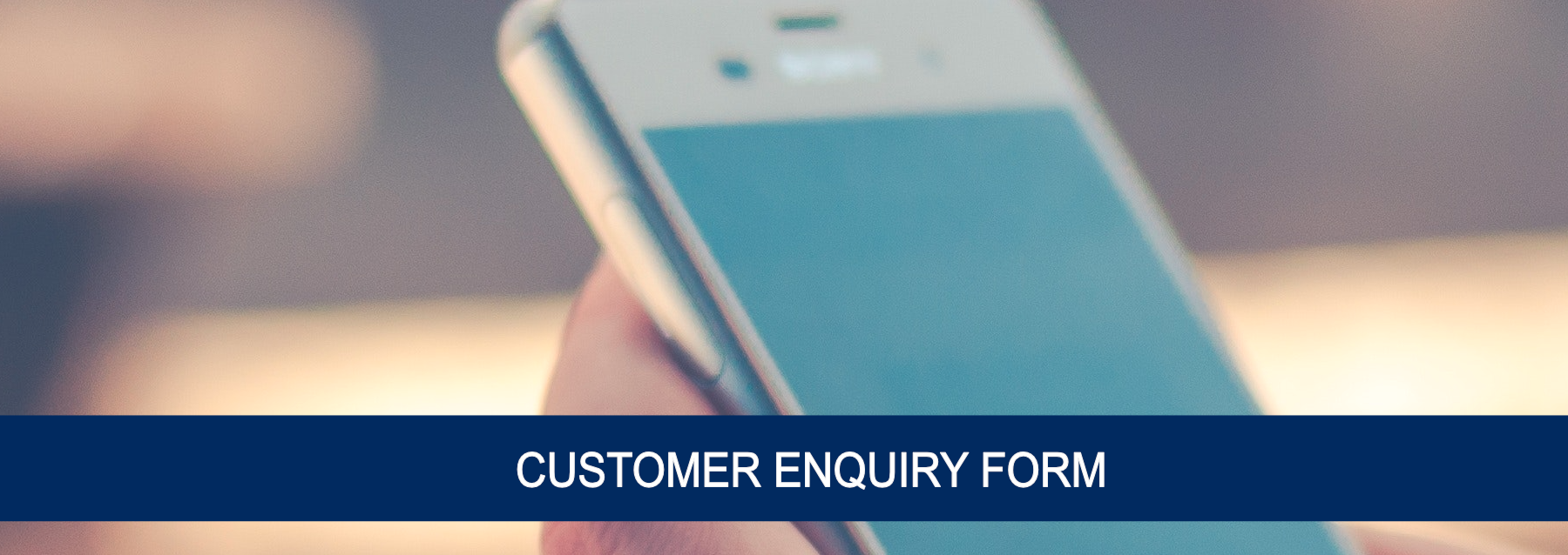 Enquiry Page Banner